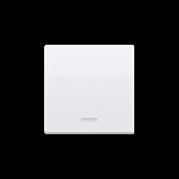 Klawisz pojedynczy z oczkiem do łączników i przycisków podświetlanych biały-254557
