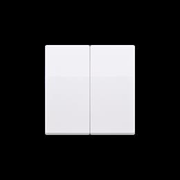 Klawisz podwójny do łączników i przycisków biały-254558