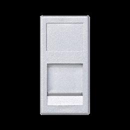 Plakietka teleinformatyczna K45 keystone pojedyncza płaska uniwersalna z osłoną 45×22,5mm aluminium-256336