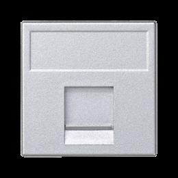 Plakietka teleinformatyczna K45 keystone pojedyncza płaska uniwersalna z osłoną 45×45mm aluminium-256333