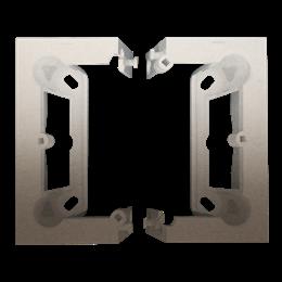 Puszka natynkowa składana, pojedyncza złoty mat, metalizowany-251666
