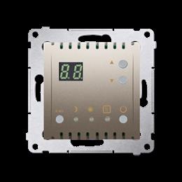 Regulator temperatury z wyświetlaczem (czujnik wewnętrzny) złoty mat, metalizowany-252749