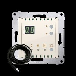 Regulator temperatury z wyświetlaczem z czujnikiem zewnętrzym (sonda) kremowy-252753