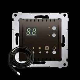 Regulator temperatury z wyświetlaczem z czujnikiem zewnętrzym (sonda) brąz mat, metalizowany-252756