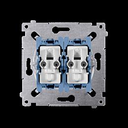 Łącznik schodowy podwójny z podświetleniem (mechanizm) 10AX 250V, szybkozłącza,-252002