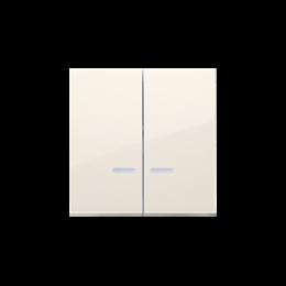 Klawisze podwójne z oczkiem do mechanizmów: SW6/2XLM, SW7/2XM, SW6P1M kremowy-252024