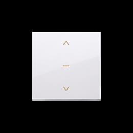 Klawisze do łącznika żaluzjowego pojedyńczego trójpozycyjnego 1-0-2 biały-252553