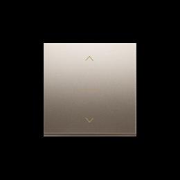 Klawisze do łącznika żaluzjowego pojedyńczego trójpozycyjnego 1-0-2 złoty mat, metalizowany-252557