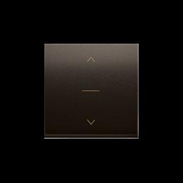 Klawisze do łącznika żaluzjowego pojedyńczego trójpozycyjnego 1-0-2 brąz mat, metalizowany-252591
