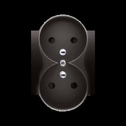 Pokrywa do gniazda wtyczkowego podwójnego z uziemieniem - do ramek PREMIUM antracyt, metalizowany-252382