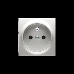 Pokrywa do gniazda wtyczkowego pojedynczego z uziemieniem srebrny mat, metalizowany-252430