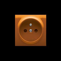 Pokrywa do gniazda wtyczkowego pojedynczego z uziemieniem pomarańczowy-252435