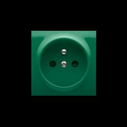 Pokrywa do gniazda wtyczkowego pojedynczego z uziemieniem zielony-252436