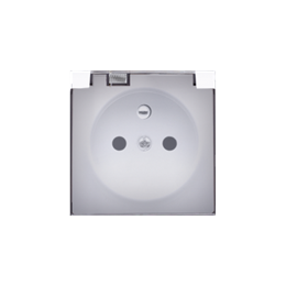 Pokrywa do gniazda wtyczkowego z uziemieniem - do wersji IP44- klapka w kolorze transparentnym biały-252441
