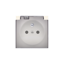 Pokrywa do gniazda wtyczkowego z uziemieniem - do wersji IP44- klapka w kolorze transparentnym kremowy-252442