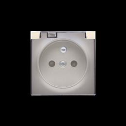 Pokrywa do gniazda wtyczkowego z uziemieniem - do wersji IP44- klapka w kolorze transparentnym złoty mat, metalizowany-252444