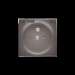 Pokrywa do gniazda wtyczkowego z uziemieniem - do wersji IP44- klapka w kolorze transparentnym brąz mat, metalizowany-252445