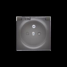 Pokrywa do gniazda wtyczkowego z uziemieniem - do wersji IP44- klapka w kolorze transparentnym antracyt, metalizowany-252446