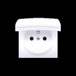 Pokrywa do gniazda wtyczkowego z uziemieniem - do wersji IP44- klapka w kolorze pokrywy biały-252448