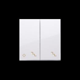 Klawisze do łącznika podwójnego schodowego SW6/2M antybakteryjny biały-251996