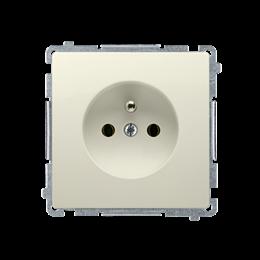 Gniazdo wtyczkowe pojedyncze z uziemieniem z przesłonami torów prądowych beżowy 16A-253820
