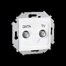 Gniazdo antenowe TV-DATA tłum.:5dB biały-254715