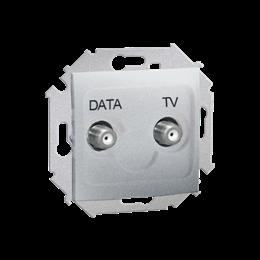 Gniazdo antenowe TV-DATA tłum.:5dB aluminium-254717