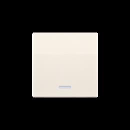 Klawisz pojedynczy z oczkiem do łączników i przycisków podświetlanych kremowy-254561