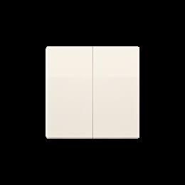Klawisz podwójny do łączników i przycisków kremowy-254562