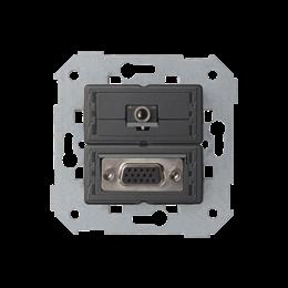 Gniazdo VGA żeńskie + mini jack-251357