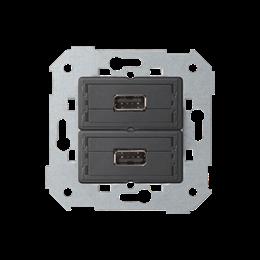 Gniazdo 2 x USB (2.0) typ A, żeńskie-251330