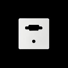 Pokrywa do gniazda VGA żeńskiego + mini jack biały-251360