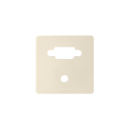 Pokrywa do gniazda VGA żeńskiego + mini jack kremowy-251361