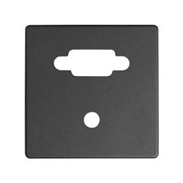 Pokrywa do gniazda VGA żeńskiego + mini jack grafit-251362