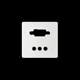 Pokrywa do gniazda VGA żeńskiego + 3 RCA biały-251364