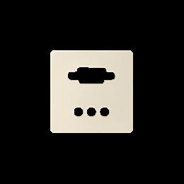 Pokrywa do gniazda VGA żeńskiego + 3 RCA kremowy-251365