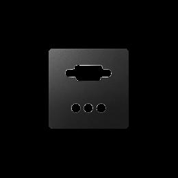 Pokrywa do gniazda VGA żeńskiego + 3 RCA grafit-251366