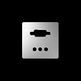 Pokrywa do gniazda VGA żeńskiego + 3 RCA aluminium-251367