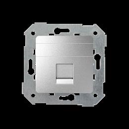 Pokrywa gniazd teleinformatycznych na Keystone płaska pojedyncza aluminium-251318