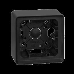 Puszka natynkowa 1-krotna grafit-250801