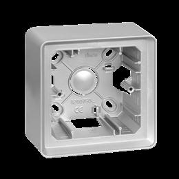 Puszka natynkowa 1-krotna aluminium-250802
