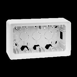 Puszka natynkowa 2-krotna biały-250803