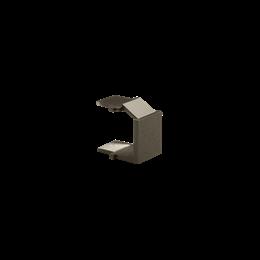 Aktywny zaślepka otworu wtyku RJ45/RJ12  pokrywy gniazda teleinformatycznego brąz mat, metalizowany-253100
