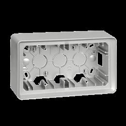 Puszka natynkowa 2-krotna aluminium-250806