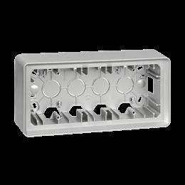 Puszka natynkowa 3-krotna aluminium-250810