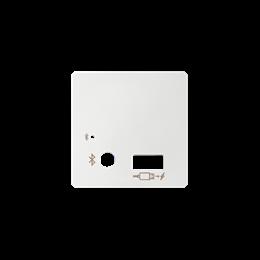 Pokrywa do odbiornika Bluetooth i ładowarki USB biały-251209