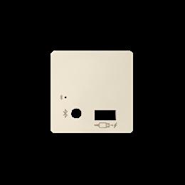 Pokrywa do odbiornika Bluetooth i ładowarki USB kremowy-251210