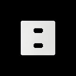 Pokrywa do gniazda 2 x USB (2.0) typ A, żeńskiego biały-251334