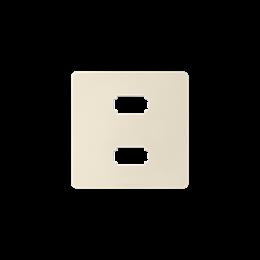 Pokrywa do gniazda 2 x USB (2.0) typ A, żeńskiego kremowy-251335