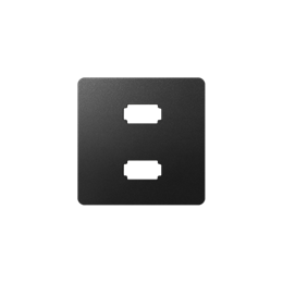 Pokrywa do gniazda 2 x USB (2.0) typ A, żeńskiego grafit-251336